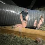 Damaged ductwork